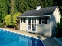 10x16-Traditional-Poolside upgraded 15 Lite Doors Black top Cupola
