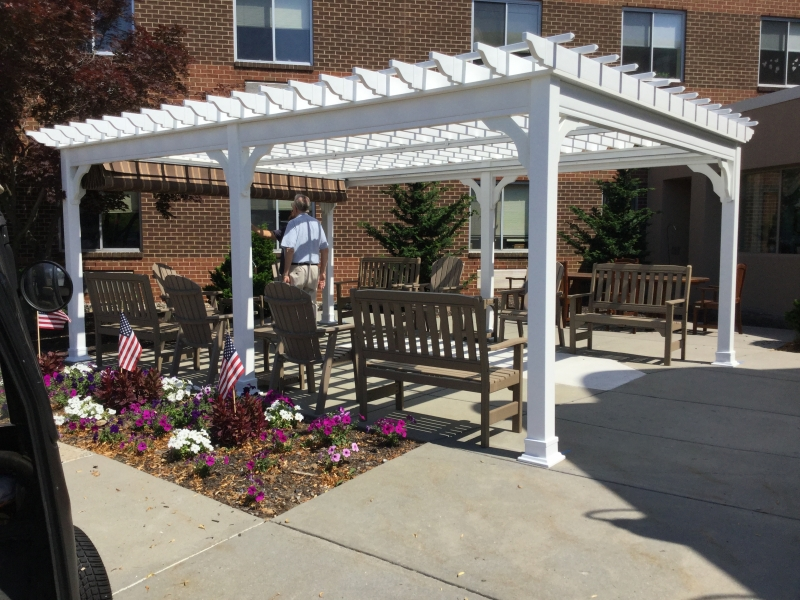 Traditional Vinyl Pergolas Amish Mike Amish Sheds