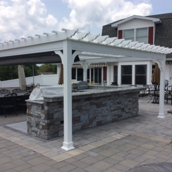 14x16-Traditional-White-Vinyl-Pergola-Charcoal-Tweed-Canopy