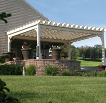 Photo Pergola Traditional Vinyl 12x16