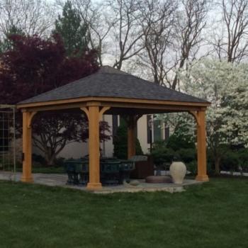 12x16 wood pavilion w 8x8 posts