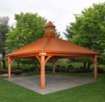 24 x 24 Grand Estate Pavilion with Metal Roof Cupola
