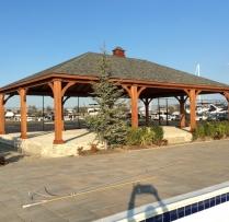 26x40 Traditional Wood Pavilion