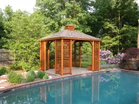 10' x 12' Traditional Wood Pavilion Lattice Corners