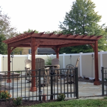 12x14 Traditional Wood Pergola