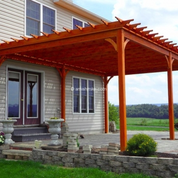16' x 24' Traditional Wood Pergola Penn Dutch
