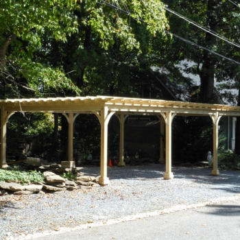 16x32 Traditional Wood Pergola