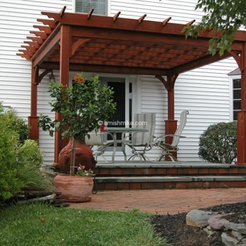 Pergola Traditional Wood 12' x 12'