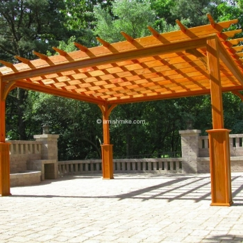 Pergola Traditional Wood 14' x 14'