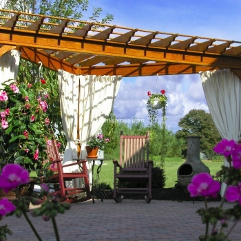 Pergola Traditional Wood 15' Triangle