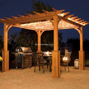 Pergola Traditional Wood Evening