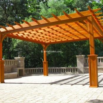 Pergola Traditional Wood 14' x 14'
