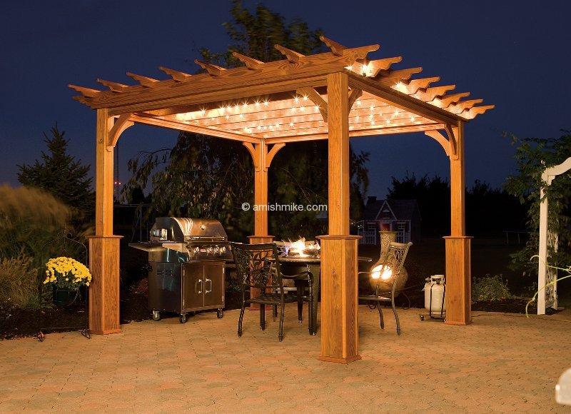 Pergola Traditional Wood Evening
