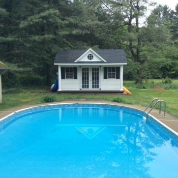 10x14 Victorian Pool House with Vinyl.