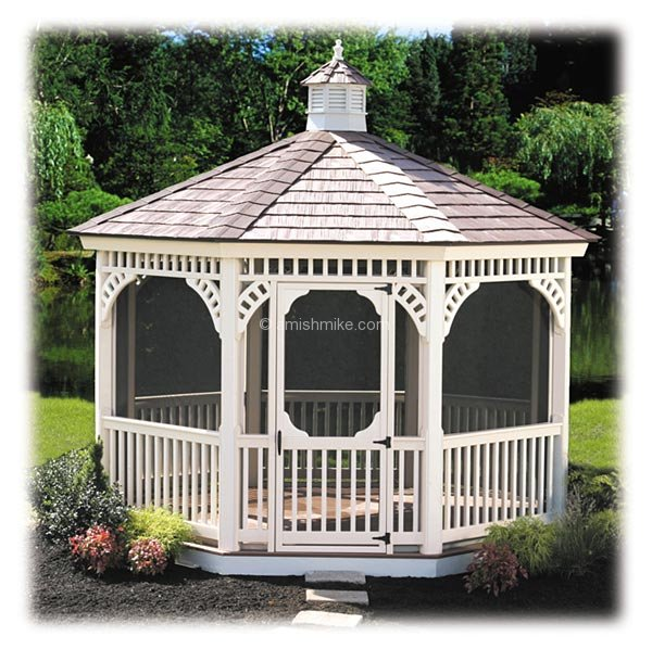 Vinyl Gazebos Amish Mike Amish Sheds Amish Barns