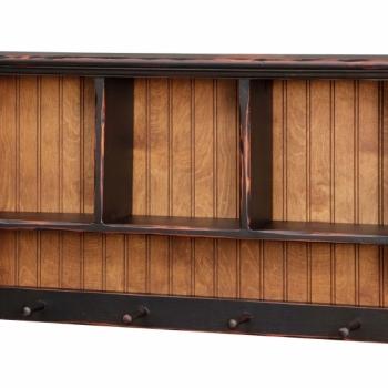 HB-60 3' Gettysburg Cubbie Shelf 30wx20hx6d