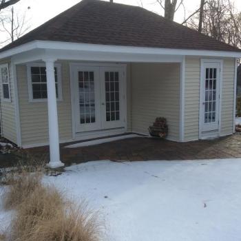 14x20 Waterford Pool House With 15 Lite Doors Extra 15 Lite Door Upgraded Doors to Pre Hung Upgraded Window 30x36 No Trek floor