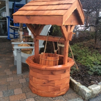 MM-24A Large Cedar Wishing Well $410