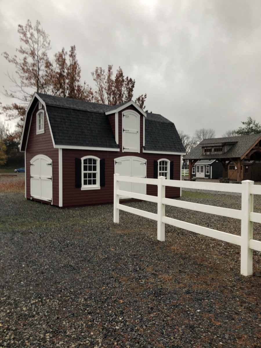 14x24 Patriot 2 Story Dutch - Amish Mike- Amish Sheds ... on Patriot Outdoor Living id=79724